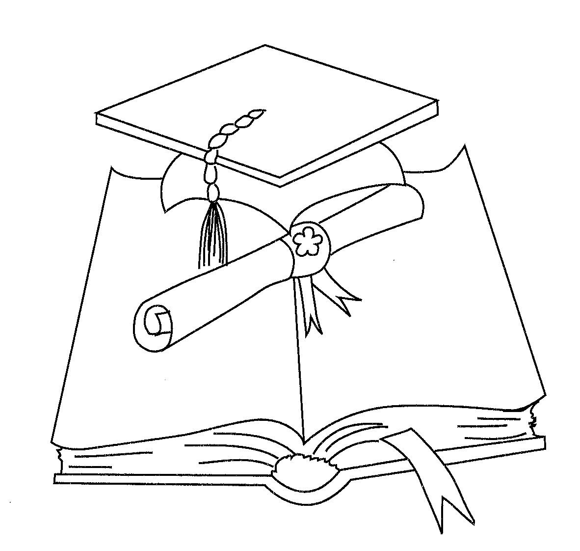 Dibujos birretes graduación para colorear - Imagui