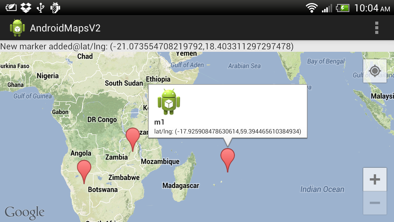 Android Er Create Custom Info Contents For Googlemaps V2 By