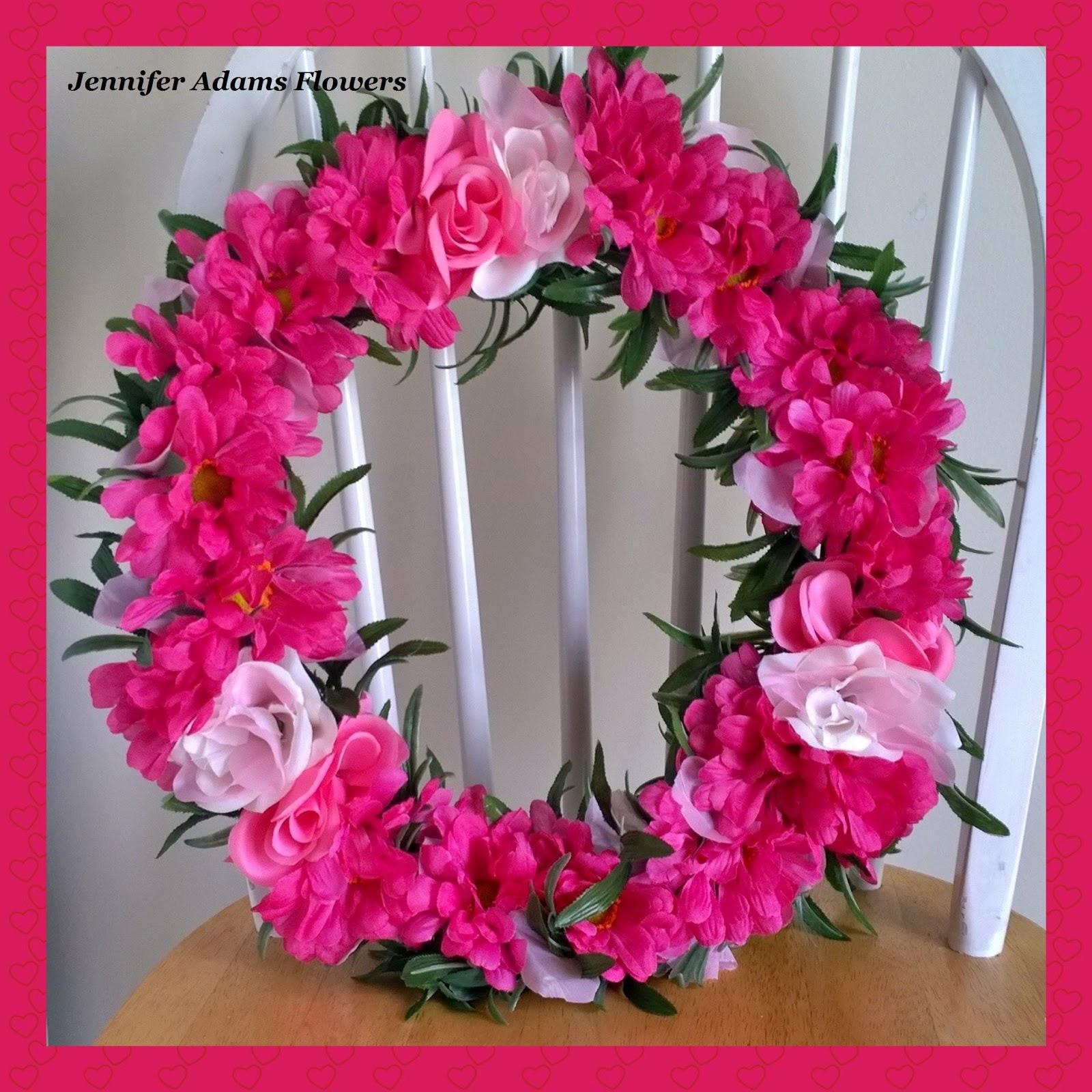 Jennifer Adams Flowers Upcycle Party Decor Turned Keepsake Wreath