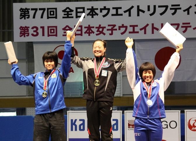 全日本女子ウエイトリフティング選手権4年連続6度目の優勝
