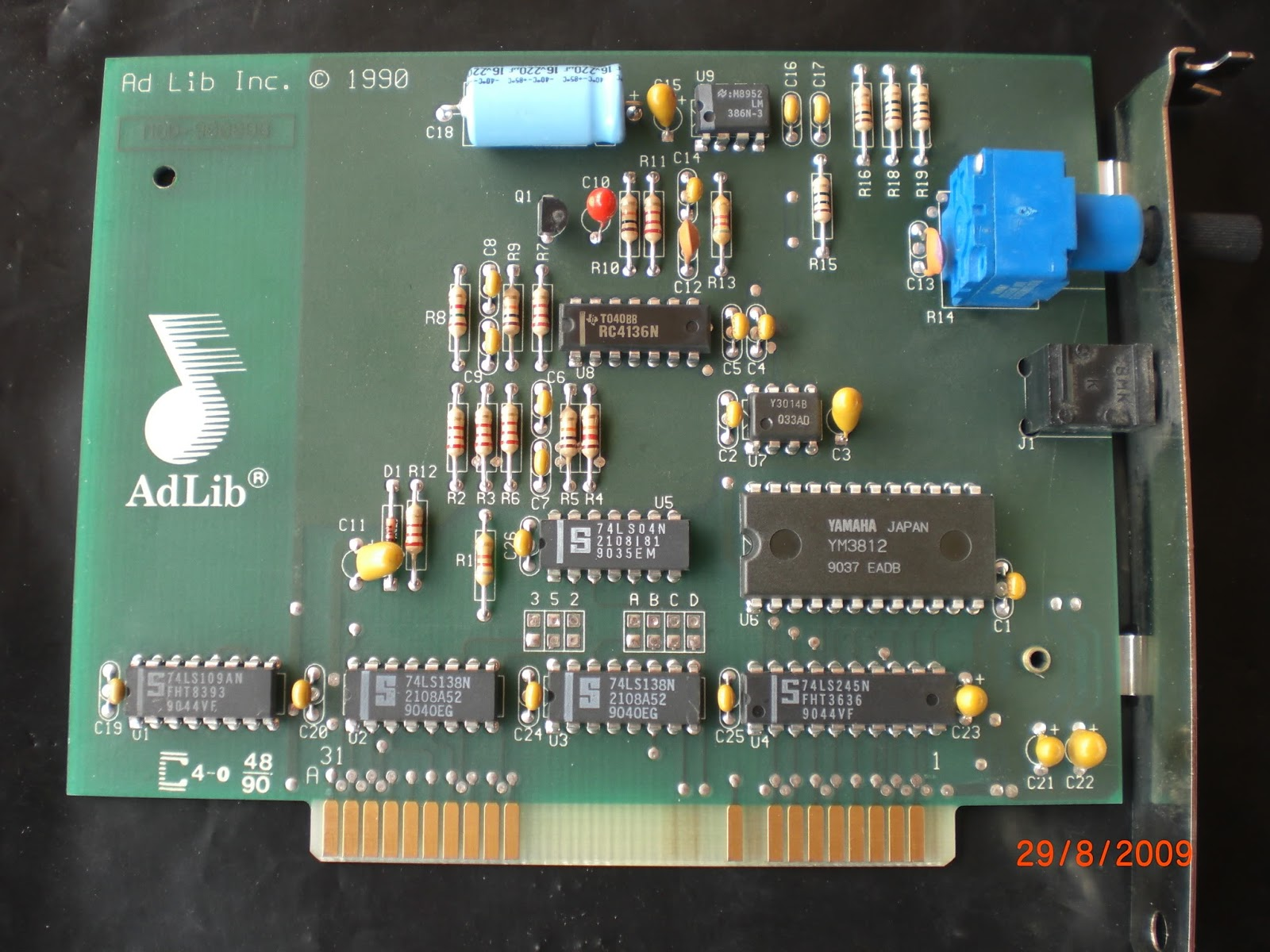 Nerdly Pleasures The First Sound Card Analog And Digital Integrated Circuits 2009 June Engineering Itself Was Made Entirely From Off Shelf Parts A Pair Of Specialized All 1987 Cards Some 1990