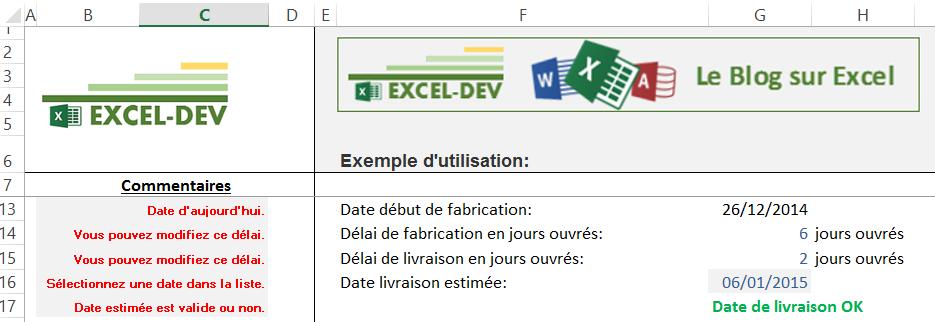 Excel Calculer Les Jours Ouvres Entre Deux Dates Le Blog Excel Dev