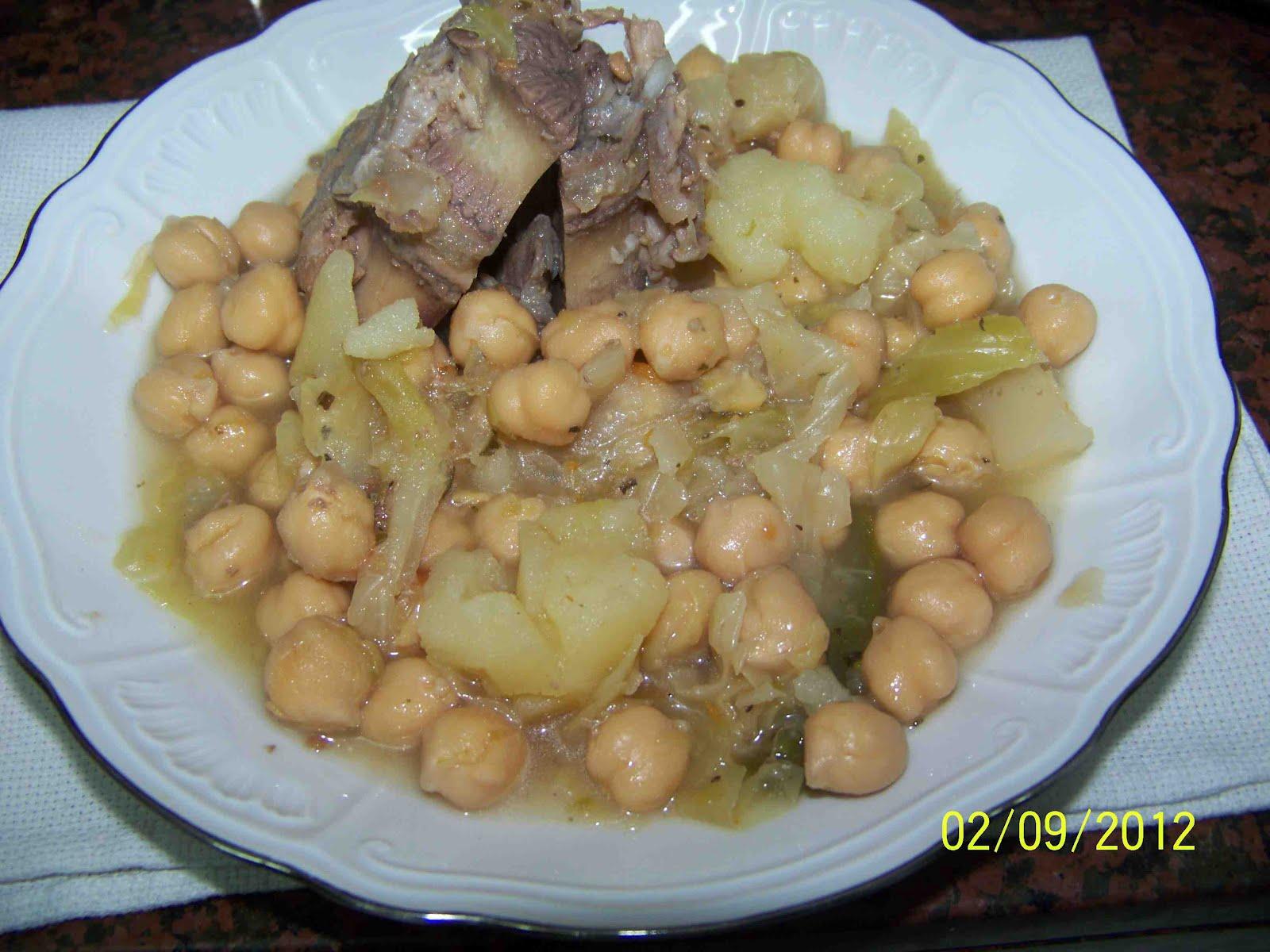 Culinaria y otras cosas cocido de garbanzos con costillas - Garbanzos con costillas ...
