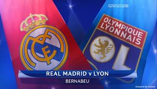 Partido Real Madrid Vs Lyon de Francia - Liga de Campeones