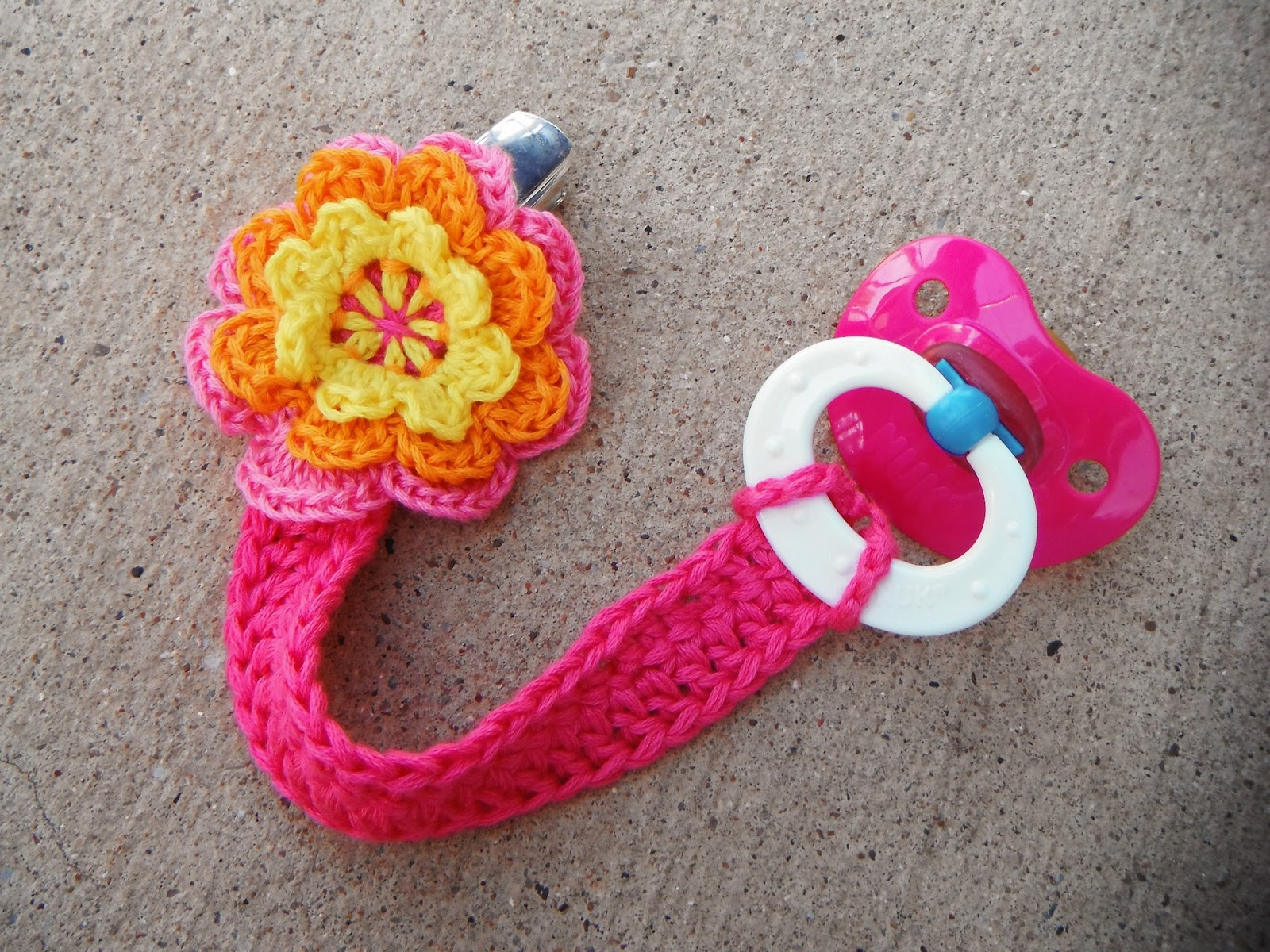 Nonsense Crochet Pacifier Clip