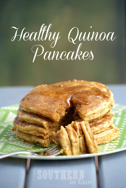 Healthy Quinoa Pancakes - Gluten Free, Low Fat, Whole wheat