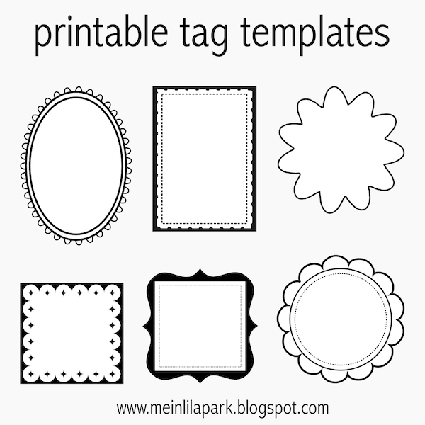photo regarding Printable Tag identify Absolutely free printable tag templates for Do it yourself tags - ausdruckbare