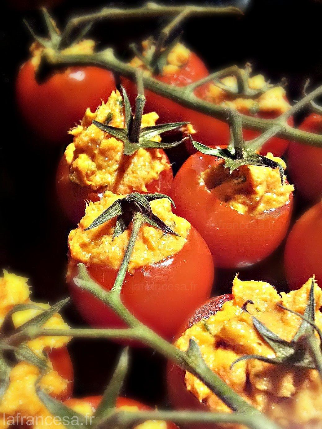 Tapa de tomates cerises thon et piquillo la recette Tapas francesas