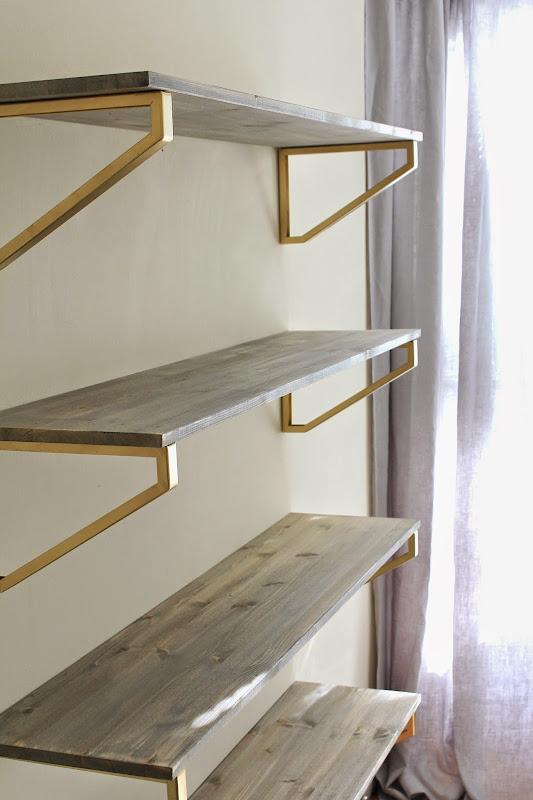 DIY Rustic Wood Shelves