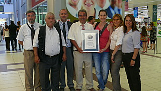 la remise du certificat du record du monde