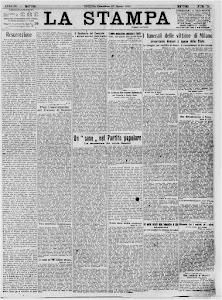 LA STAMPA 27 MARZO 1921