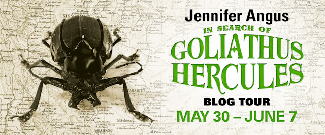 in search of goliathus hercules by jennifer angus blog tour