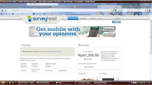 Survey Online dibayar dollar