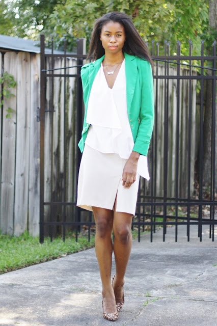 Green Wear to Work Outfit Lucy Paris