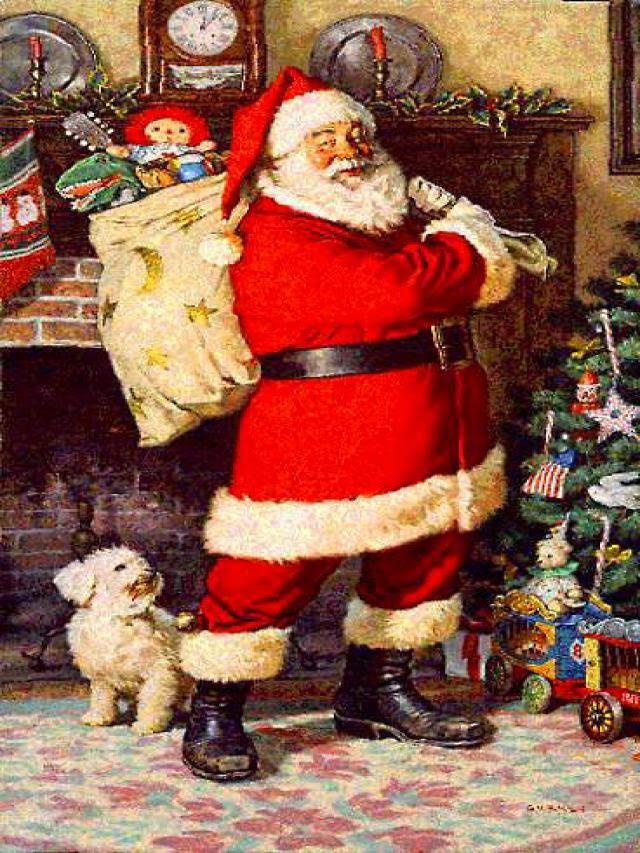 imagen de santa claus con regalos