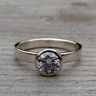 recycled moissanite ring