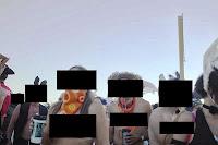 costumed participants at burning man