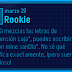 Nuevo mensaje: ¡Rookie!