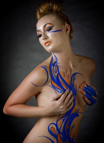 Ảnh gái đẹp sexy với body painting Phần 2 25