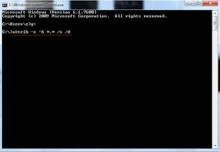 command prompt attrib