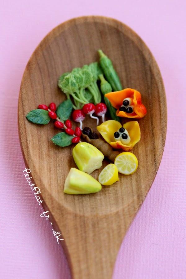 Miniature fruit and vegetables, Stéphanie Kilgast, PetitPlat