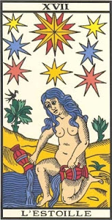 Arcano 17: A Estrela, carta do tarô, tarot, baralho de marselha