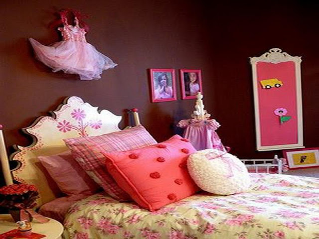 Pink And Brown Bedroom Decorating Ideas - Interior Designs Room
