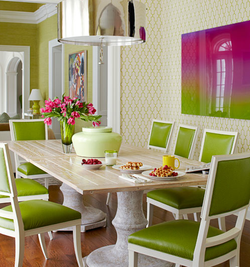 decoracao de interiores sala de jantar:Lime Green Dining Room Chairs