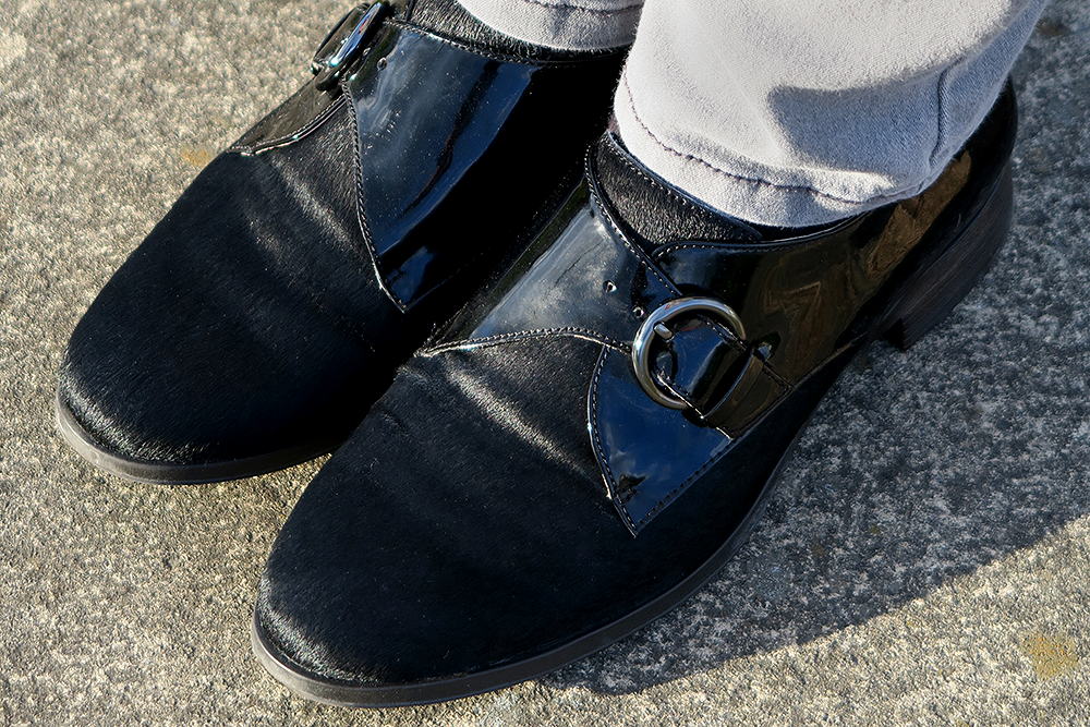 Clarks Black Busby Jazz Monk Shoes, Leeds Fashion Blogger