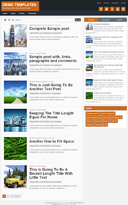 TheTuts Orange Blogger Template