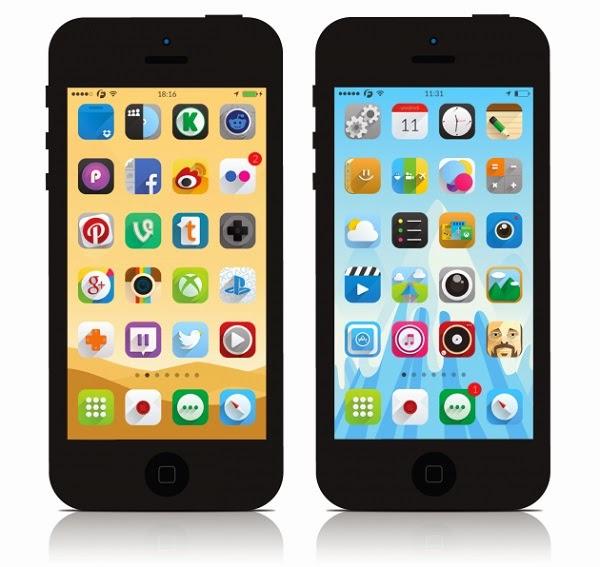 Ambre iOS 8 Theme