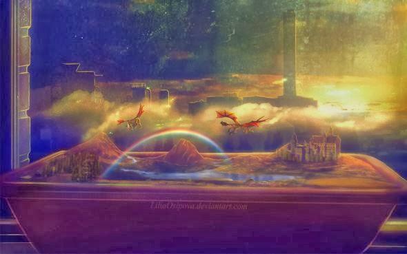 Lilia Osipova deviantart manipulação digital photoshop ilustrações fantasia surreal psicodelia Dois mundos