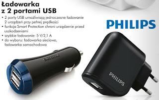 Ładowarka z 2 portami USB Philips Biedronka ulotka