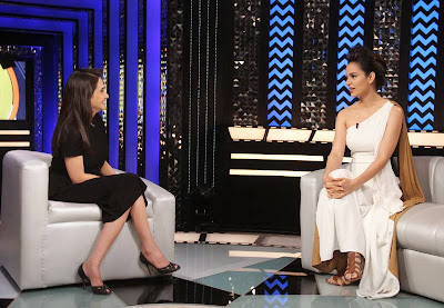 Kangna Ranaut on the sets of The Front Row With Anupama Chopra