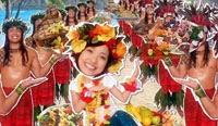 Misaki visualizes herself in Hawaii.