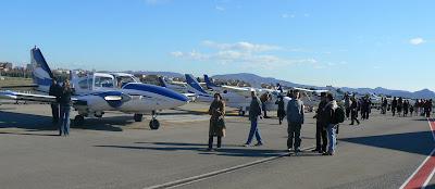 Exposició d'avions de l'Aeroclub.