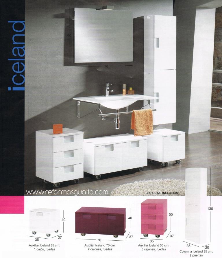 Serie iceland de muebles auxiliares reformas guaita - Cajoneras para bano ...