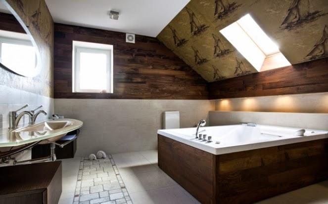 Contemporary Wallpaper for Bathrooms Ideas