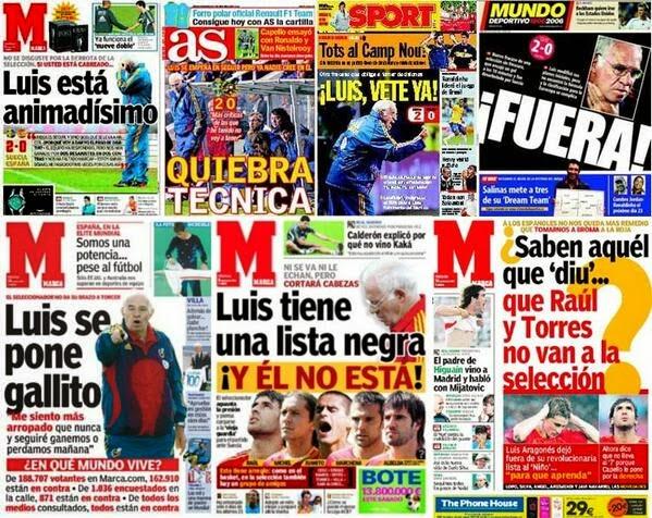 Errores en periodismo deportivo, Marca, As, Sport, diarios