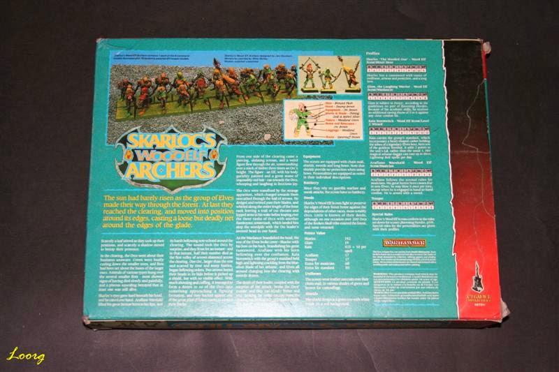 contraportada de la caja RRD4 - Skarloc's Wood Elf Archers
