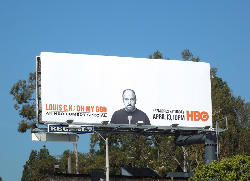 Louis CK Oh My God HBO comedy special billboard