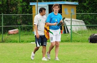 Rubén Insúa regresó a los entrenamientos del Cali
