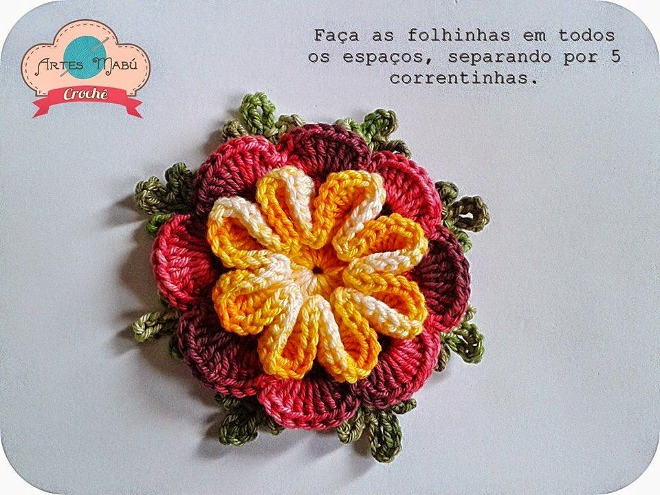 Cómo hacer una flor en tres colores paso a paso