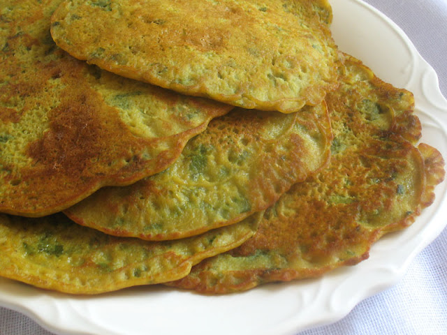 Indian Fenugreek Pancakes with Coriander