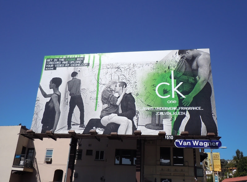 CK One kissing billboard