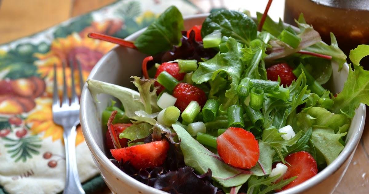 L 39 assiette vegan salade de verdure et fraise et sa for Fraise pour perceuse dijon