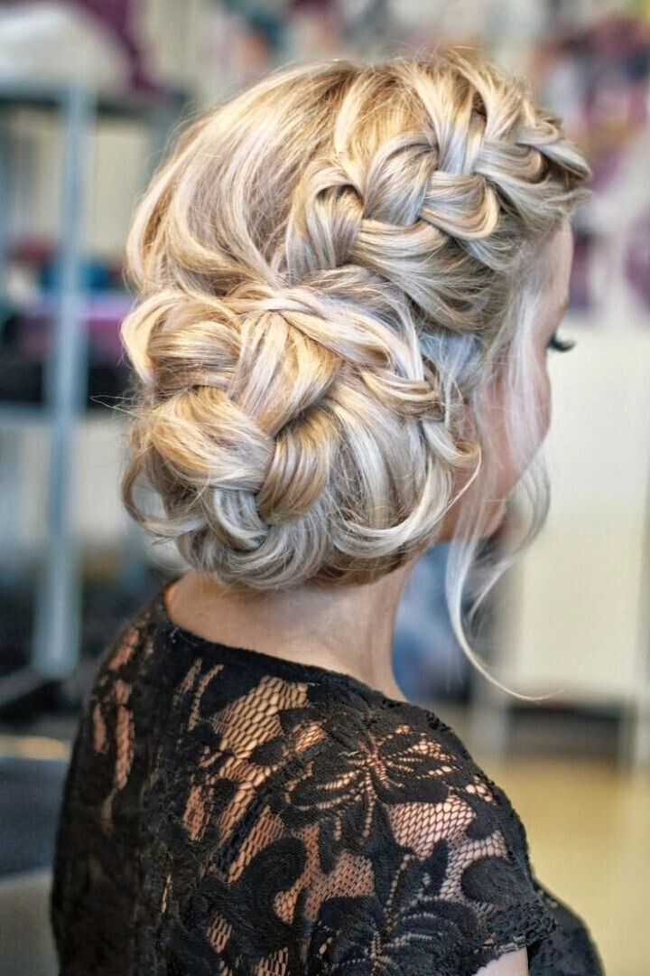 Model Stylish New Braided Updo Hairstyles 2015