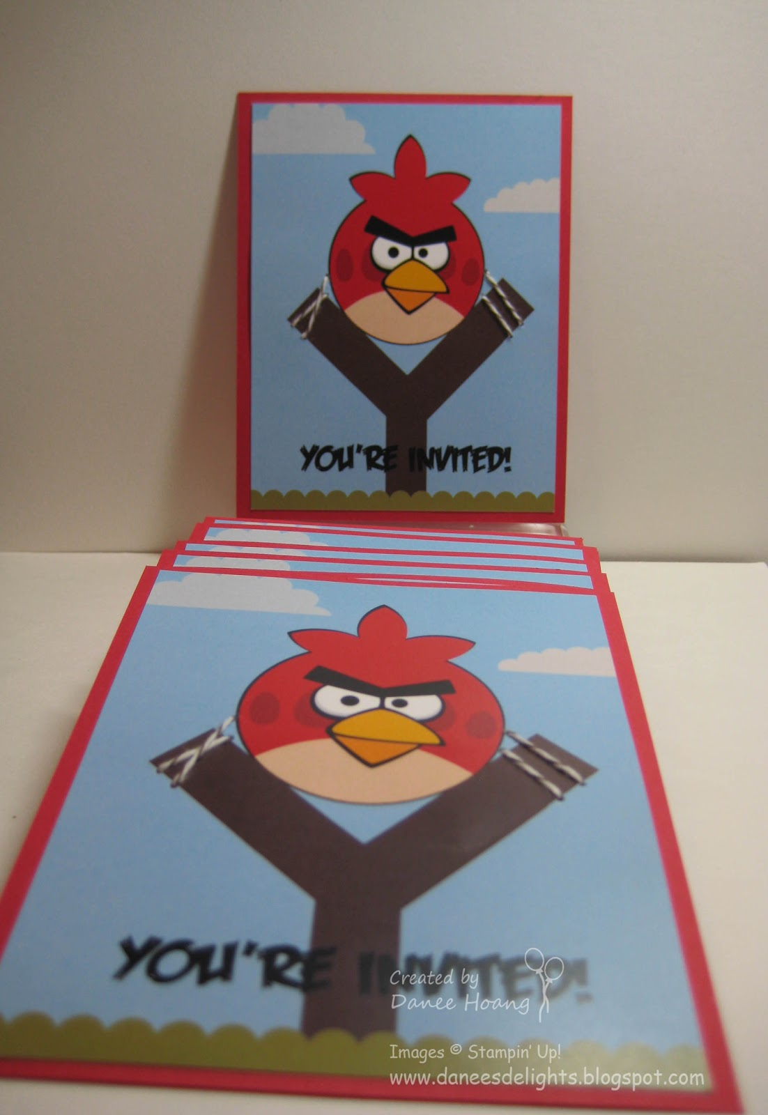 Danee\'s Stampin\' Delights: MDS - Angry Birds Party Invitations