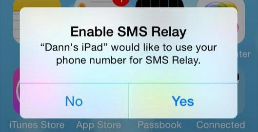 There is a new feature that is known as SMS relay