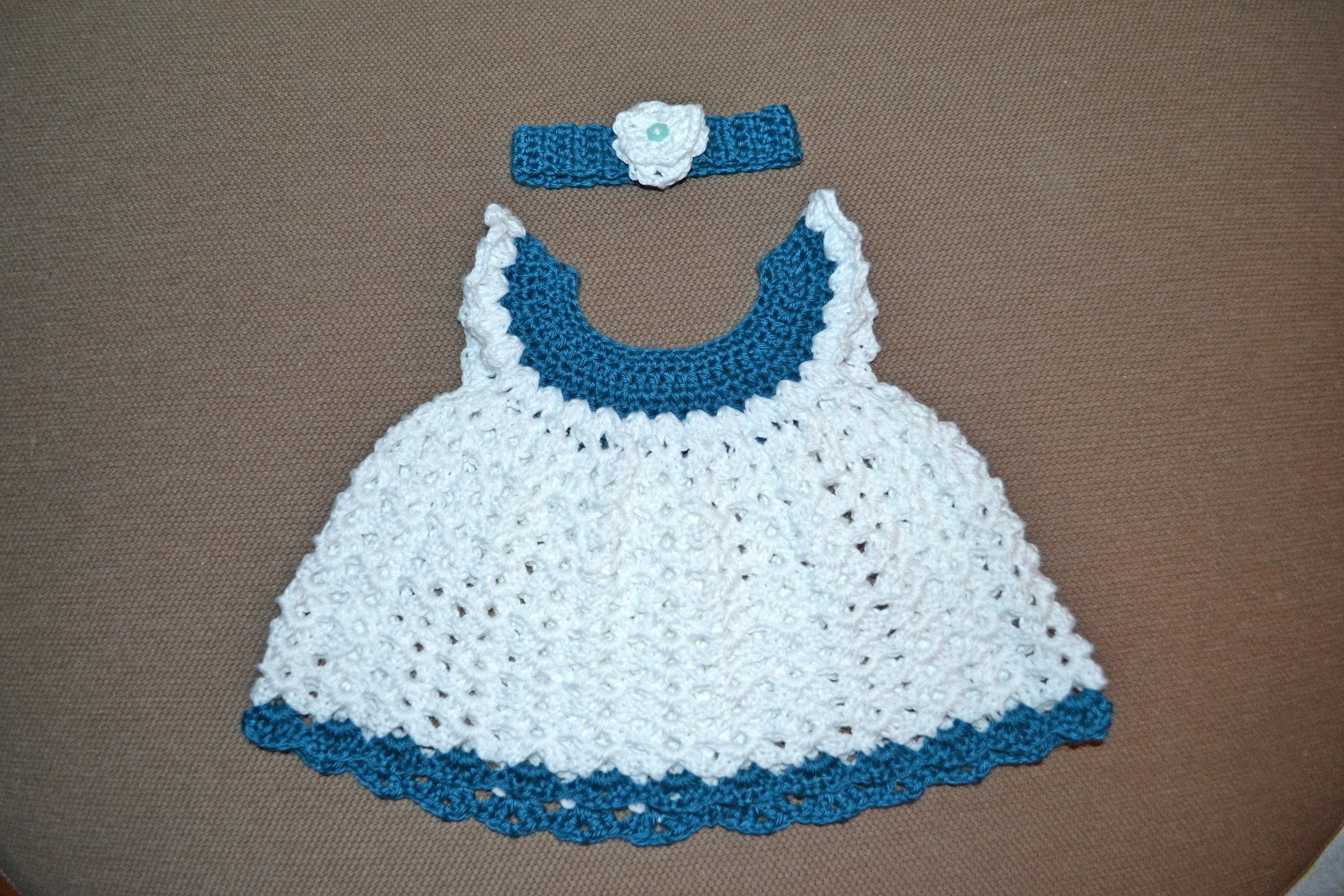 Crochet Baby Dress Free Pattern By Kitty For K : Crochet and Craftings: Angel Wing Dress and Headband